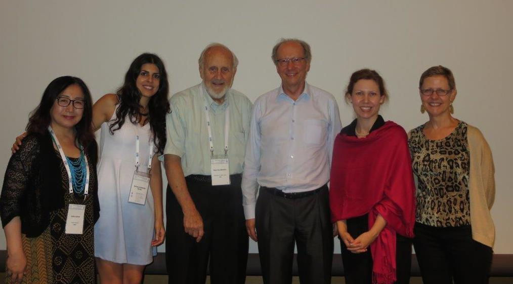RC06 Board (2010-2014): Emiko, Barbara, Rudy, Rudolf, Ria, and Tessa at the ISA World Congress in Japan (from left to right)