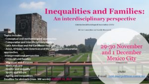 RC06 Conference in Mexico: 'Inequalities and Families: An Interdisciplinary Perspective'